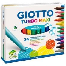 Pennarelli GIOTTO Turbo Maxi punta grossa 5 mm assortiti astuccio da 24 - 455000