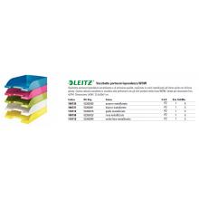 Vaschetta portacorrispondenza Leitz WOW in polistirolo A4 bianco metalizzato 52263001 (Conf.5)