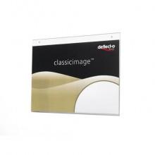 Portastampati da parete deflecto® A4 orizzontale in polistirene trasparente 46901