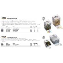 Fermagli Leone in filo ricoperto da plastica colorata Gran Mix misure assortite scatola da 125 g FXPB125GMIX