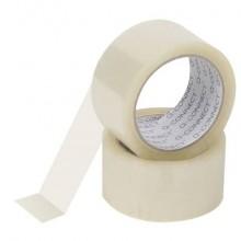 Nastro adesivo da imballo Q-Connect 50 mm x 66 m trasparente - svolgimento rumoroso - conf. 6 pezzi - KF01791