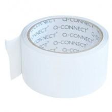 Nastro adesivo da imballo Q-Connect 50 mm x 66 m bianco - svolgimento rumoroso - conf. 6 pezzi - KF02901