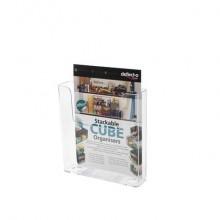Portadocumenti deflecto® A4 in polistirene trasparente 76401