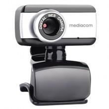 Webcam Mediacom M250 nero/silver risoluzione 640x480 px - M-WEA250
