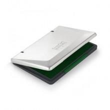 Cuscinetti in feltro per timbri Trodat 9052M - 11x7 cm verde - coperchio in metallo - 151804