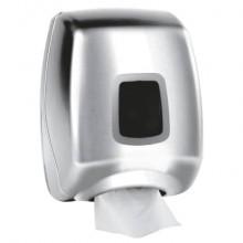 Distributore di carta igienica interfogliata QTS in ABS - max 350 foglietti argento - STE-TSF2/S