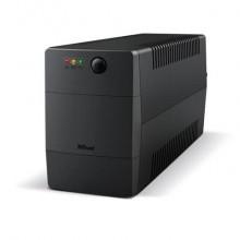 Gruppo di continuità PAXXON 800VA Trust con batteria integrata - 2 prese nero 23503