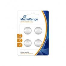 Batterie al litio a bottone Media Range CR2032 3V Conf. 4 pezzi - MRBAT132