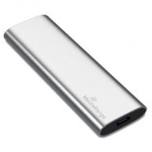 Unità SSD esterna Media Range USB Type-C® 120 GB - argento MR1100