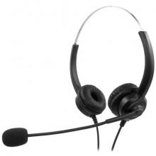 Cuffie stereo per PC Media Range con microfono e filo - USB - nero - MROS304