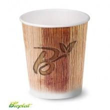 Bicchiere 3 oz (85 ml)  in cartoncino Bio Scatolificio del Garda - fantasia Palm Leaf - Conf. 50 pezzi - 300-60