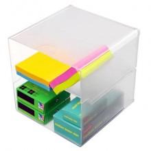 Cubo organizer deflecto® in polistirene trasparente 350701