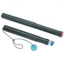Tubo porta disegni Ø 55 mm TECNOSTYL estensibile a 2 moduli 40-70 cm nero 79