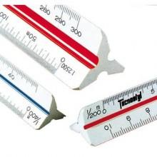 Scalimetro triangolare professionale da 30 cm TECNOSTYL in plastica a 6 scale 1:100 a 1:500 - 91/C