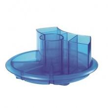Organizer girev. porta oggetti Tecnostyl plastica con 5 alloggiamenti alti e 5 vani bassi ø 20 cm x 8 cm blu - AT1/6
