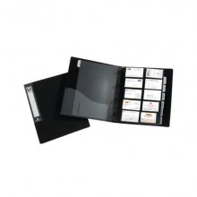 Portabiglietti da visita ad anelli TECNOSTYL in PPL da 500 scomparti in 25 pagine 26x32x4 cm nero - BT601