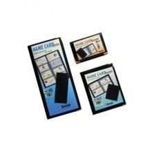 Portabiglietti da visita TECNOSTYL in vinilico da 36 biglietti 7,5x11 cm nero NC36