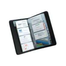 Ricambi per portabiglietti da visita ad anelli TECNOSTYL da 76 tasche in 19 pagine 24x12 cm trasparente - NCB01