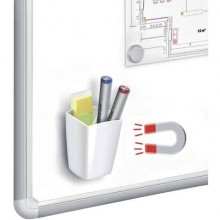 Portapenne CepPro Gloss magnetico CEP in polistirolo bianco 1005310021