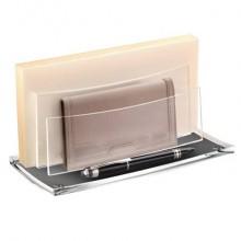 Sparticarte AcryLight CEP in acrilico riciclabile con 2 scomparti a gradini trasparente - 1004500111