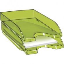 Vaschetta portacorrispondenza CepPro Happy impilabile CEP in polistirene max 450 fogli verde bambù - 1002000731