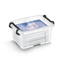 Contenitore con doppio coperchio in ppl 0,4 L Strata riciclabile impilabile trasparente - 2006780111