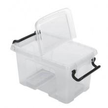 Contenitore con doppio coperchio in ppl 1,7 L Strata riciclabile impilabile trasparente - 2006780111