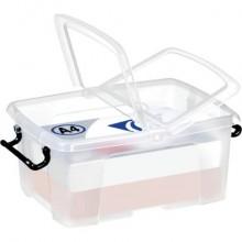 Contenitore con doppio coperchio in ppl 12L Strata riciclabile impilabile trasparente - 2006710110