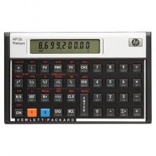 Calcolatrice finanziaria HP con display LCD da 12 caratteri regolabile nero/argento - HP-12C PLAT/UUZ