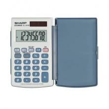 Calcolatrice tascabile a doppia alimentazione SHARP con display a 8 cifre - SH-EL243EB
