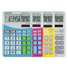 Calcolatrice da tavola a 10 cifre SHARP con funzioni di calcolo dell'imposta e conversione di valuta blu - SH-ELM332BBL