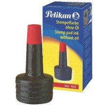 Inchiostro per timbri senza olio Pelikan flacone 28 ml rosso 351221