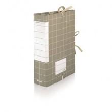 Cartella archivio Brefiocart RESISTO lacci rivettati 25x35 cm grigio dorso 8 cm  Conf. 10 pezzi - RES0201-8
