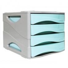 Cassettiera 4 cassetti ARDA Keep Colour Pastel polistirolo antiurto grigio/azzurro - 15P4PPASBL