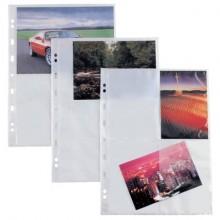 Buste a foratura universale Sei Rota Atla F per fotografie 4 spazi 13x18 cm trasparente  conf. 10 buste - 662502