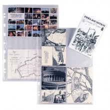 Buste a foratura univ. Sei Rota Atla FT per foto e cartoline 4 spazi 15x21 cm trasparente  conf. 10 buste - 662533