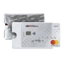 Porta credit card Sei Rota Shelter-S 1 foglietti allum/trasparente - 486202