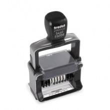 Datario autoinchiostrante personalizzabile Trodat 5460/FARM in acciaio inox 56x33 mm nero - 139703