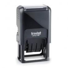 Datario autoinchiostrante con testo personalizzabile Trodat PRINTY 4750 4.0 in plastica 41x24 mm nero - 140807