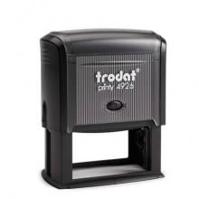 Timbro autoinchiostrante Trodat PRINTY 4926 in plastica 75x38 mm nero 45218