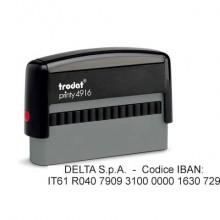 Timbro autoinchiostrante Trodat PRINTY 4916 in plastica 70x10 mm nero 72642