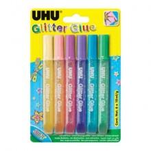 Colla glitter Uhu Glue Shiny 10 ml  Conf. 6 pezzi - D1641