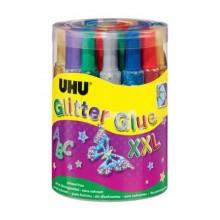 Colla Glitter Uhu 20 ml  Conf. 24 pezzi - D1553