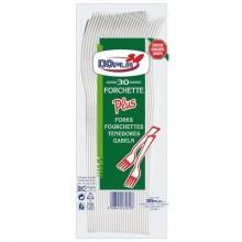 Stoviglie monouso Dopla forchette Compact Plus polistirolo bianco conf.30 - 03034