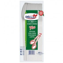 Stoviglie monouso Dopla cucchiai Compact Plus polistirolo bianco conf.30 - 03036