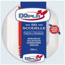 Scodelle monouso Dopla 300 ml polistirene bianco conf.50 - 08005