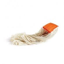 Mop in cotone Perfetto Factory 400 gr. bianco / fascetta arancio 0026H