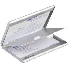 Portabiglietti da visita Durable BUSINESS CARD BOX DUO alluminio argento metallizz. fino a 10 biglietti - 243323
