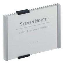 Targhe DURABLE INFO SIGN alluminio/acrilico trasparente/argento metallizzato inserto 149x105,5 mm 480123