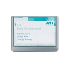 Targhe DURABLE CLICK SIGN ABS trasparente/grafite 149x105,5 mm 486137